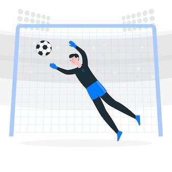 Ilustração de conceito de gol de futebol