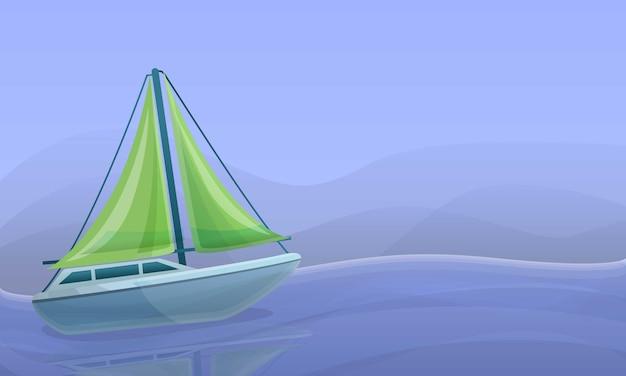 Ilustração de conceito de iate do mar, estilo cartoon