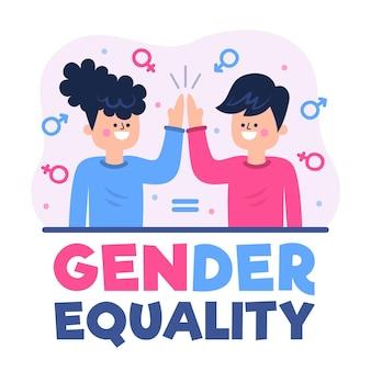 Ilustração de conceito de igualdade de gênero