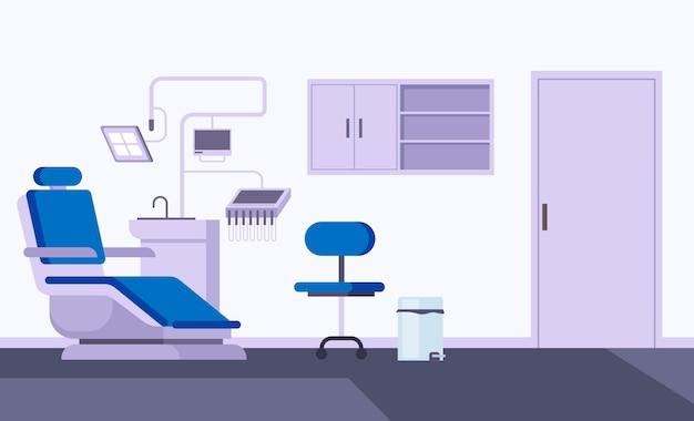 Ilustração de conceito de interior de consultório dentista