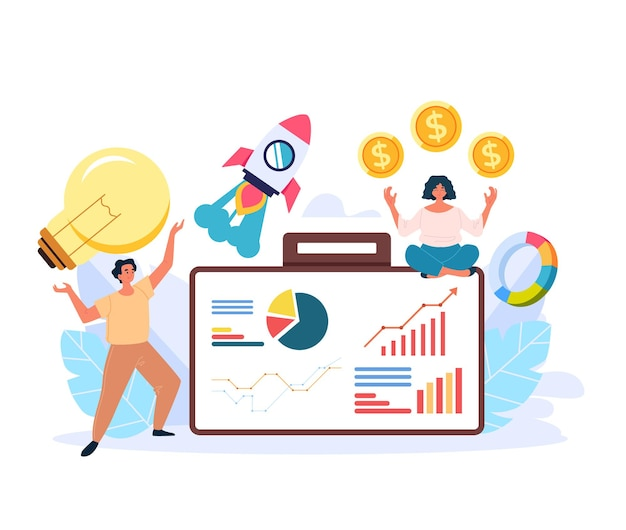 Ilustração de conceito de negócio de sucesso de empreendedor profissional de alta administração