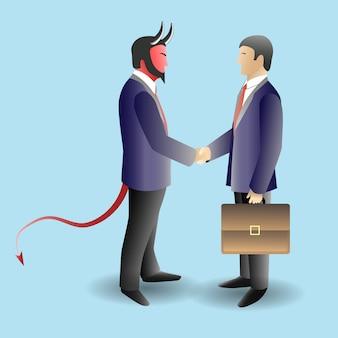 Ilustração de conceito de negócio do diabo