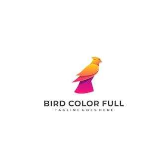 Ilustração de conceito de projetos coloridos de águia de pássaro modelo