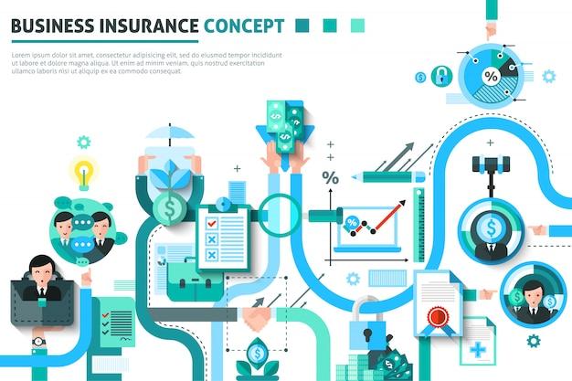 Ilustração de conceito de seguro empresarial