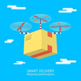 Ilustração de conceito de serviço de entrega