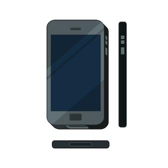 Ilustração de conceito de telefone móvel plana isolada