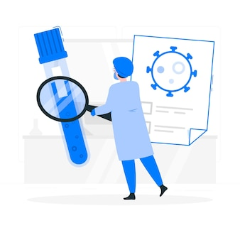Ilustração de conceito de teste de sangue (covid-19)