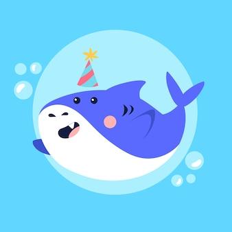 Ilustração de conceito de tubarão bebê