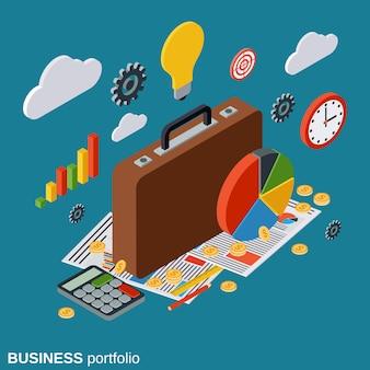 Ilustração de conceito de vetor de portfólio de negócios