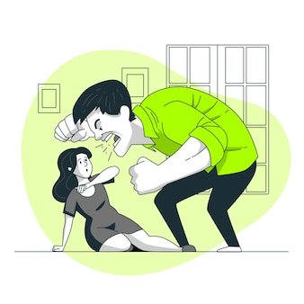 Ilustração de conceito de violência de gênero