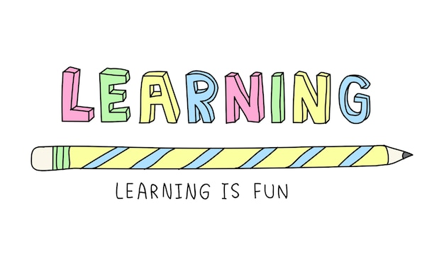 Ilustração, de, conceito educação