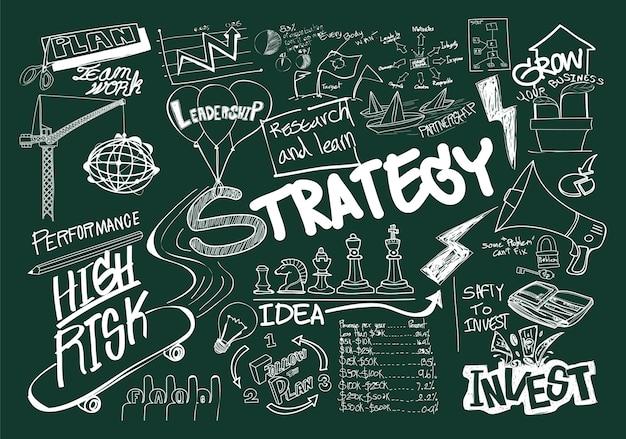 Ilustração, de, conceito negócio