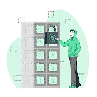 Ilustração de conceito oculto