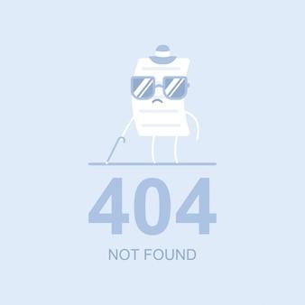 Ilustração de conceito plana de vetor não encontrado 404