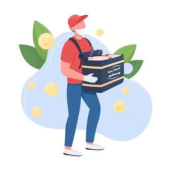 Ilustração de conceito plano de entrega de comida