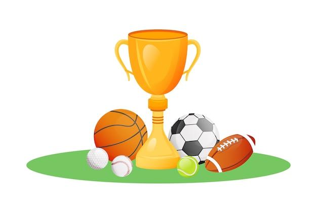 Ilustração de conceito plano de troféu de campeonato