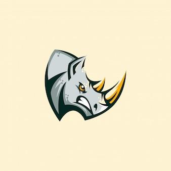 Ilustração de conceito zangado rinoceronte
