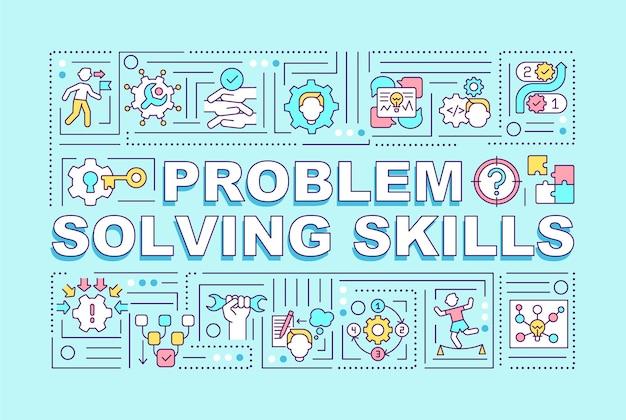 Ilustração de conceitos de palavras de habilidades de resolução de problemas