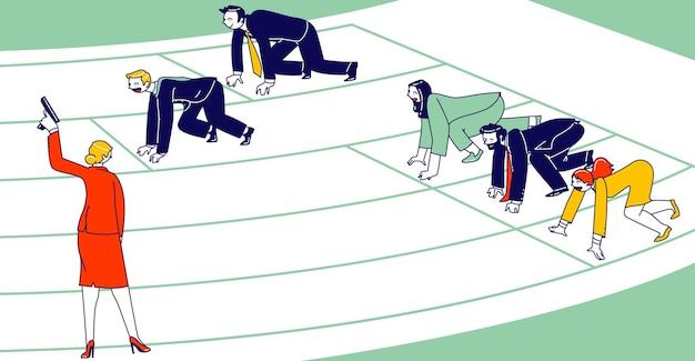 Ilustração de concorrência desleal de negócios