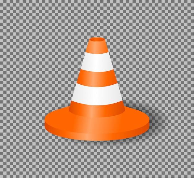 Ilustração de cone de tráfego realista.