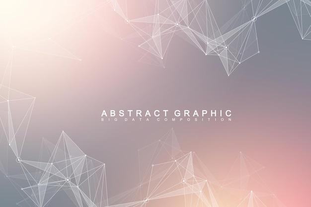 Ilustração de conexão abstrata