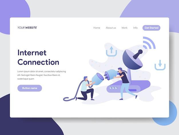 Ilustração de conexão com a internet para páginas da web
