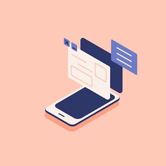 Ilustração, de, conexão internet