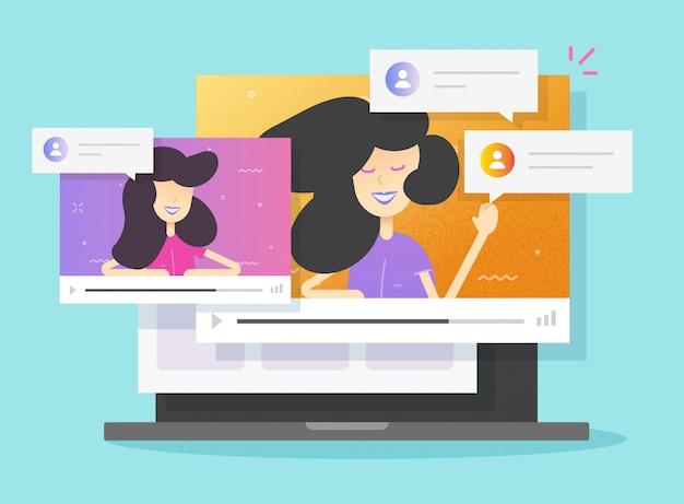 Ilustração de conferência de chamada de vídeo