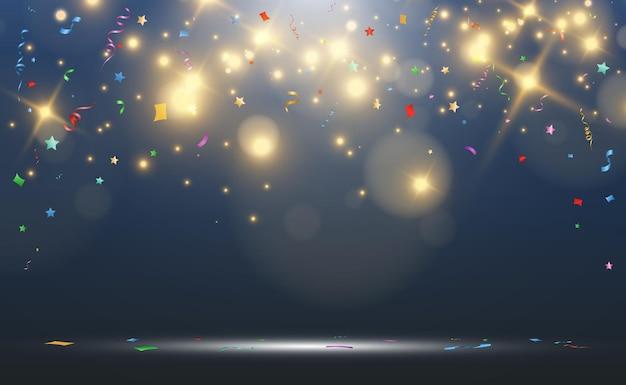 Ilustração de confete caindo