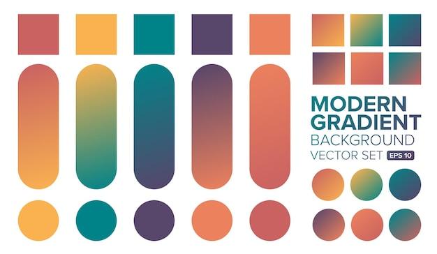 Ilustração de conjunto de cores gradientes