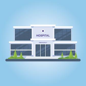 Ilustração de conjunto de edifício de hospital