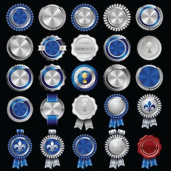 Ilustração de conjunto de emblemas de luxo