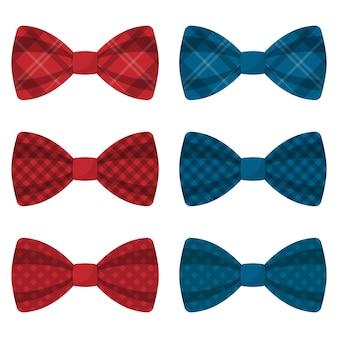 Ilustração de conjunto de gravatas-borboleta coloridas