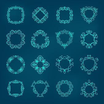 Ilustração de conjunto de monograma