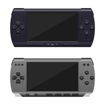 Ilustração de console de jogos no fundo branco