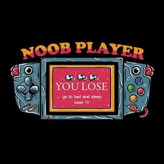 Ilustração de console de videogame móvel
