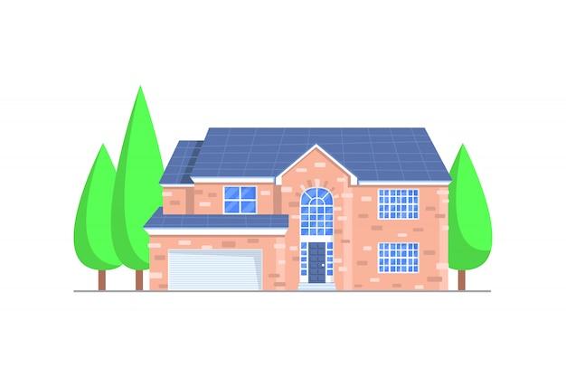 Ilustração de construção de casa