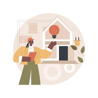 Ilustração de construção elétrica residencial