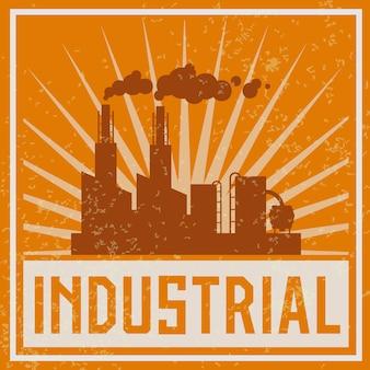 Ilustração de construção industrial de construção