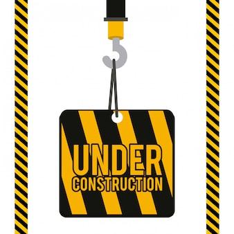 Ilustração de construção.