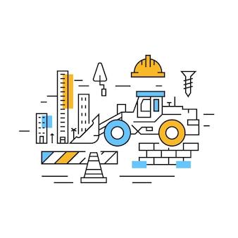 Ilustração de construção