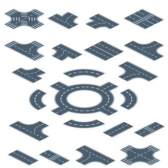 Ilustração de construtor de marcação de estrada
