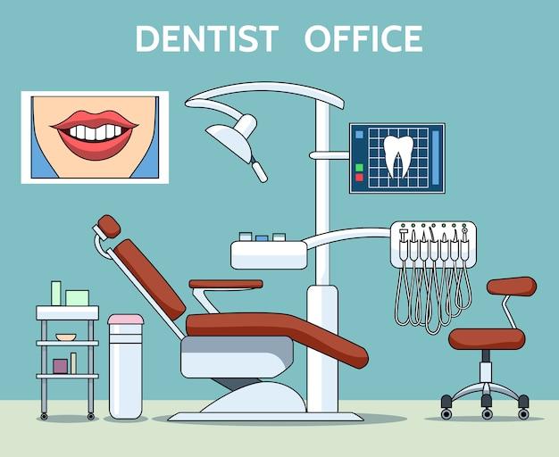 Ilustração de consultório dentista