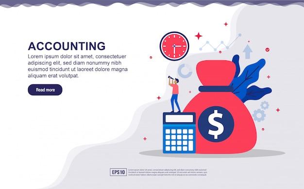 Ilustração de contabilidade e financeira com