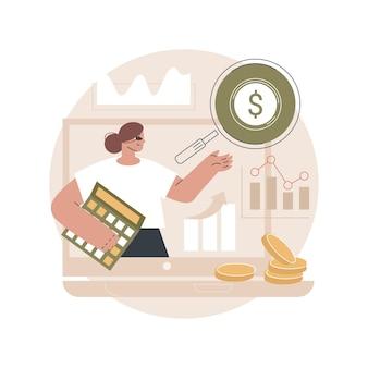 Ilustração de contabilidade empresarial