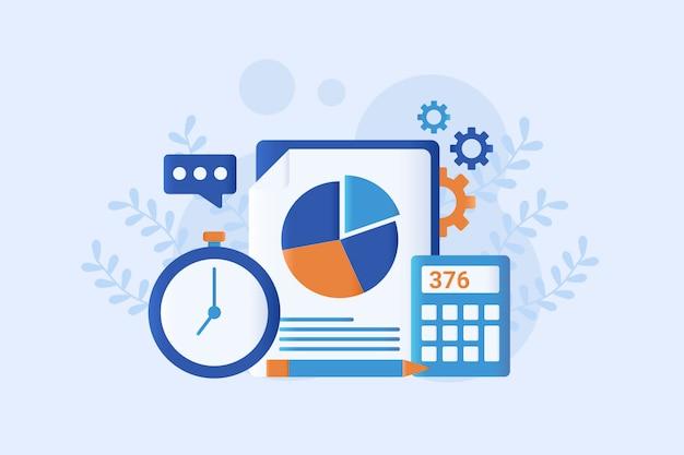 Ilustração de contabilidade plana