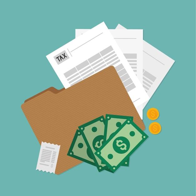 Ilustração de contabilidade tributária