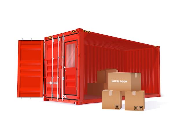 Ilustração de contêiner de carga
