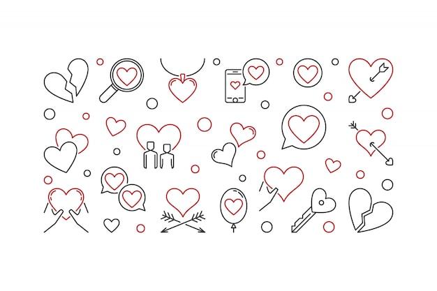 Ilustração de contorno de amor