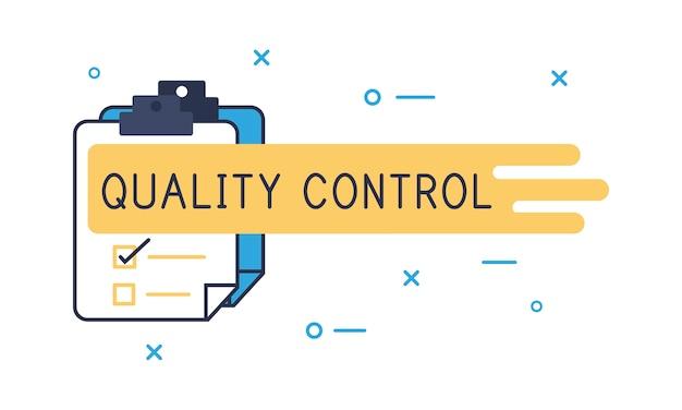 Ilustração de controle de qualidade